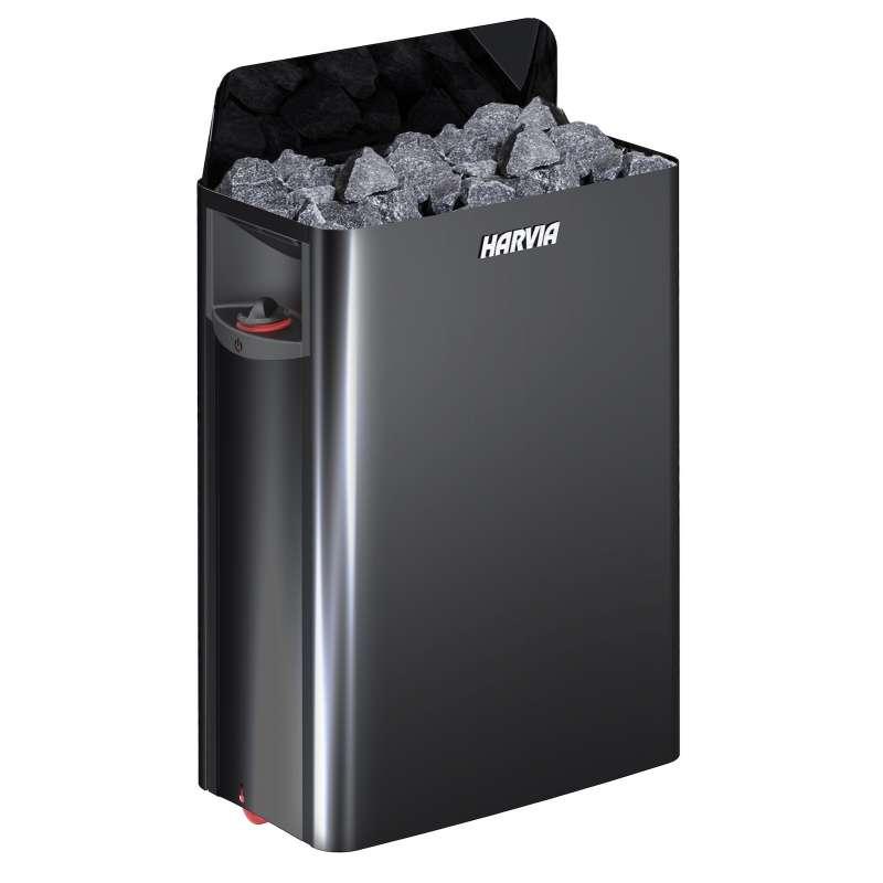 Harvia The Wall SW60 black 6,0 kW Saunaofen Elektroofen mit integrierter Steuerung schwarz