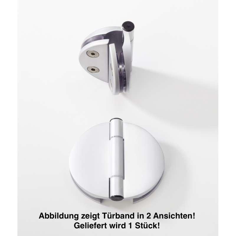 Infraworld Tuerband Doppel für Saunatüren 1 Stück für 6 bzw. 8 mm Glastuer