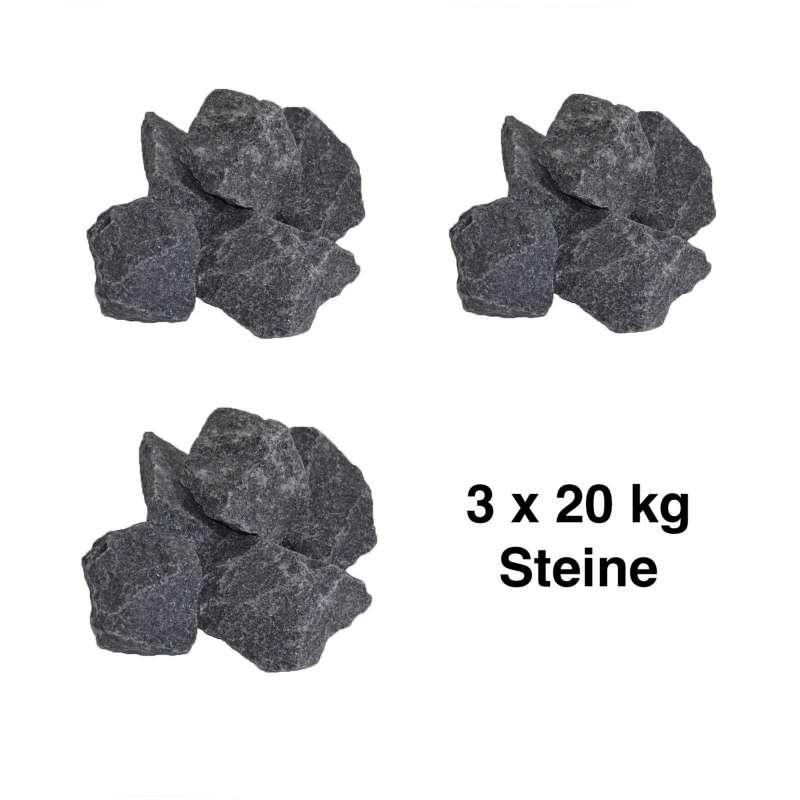 Saunasteine-Set 60 kg 5-10 cm Ofensteine Steine für Saunaofen Elektroofen R-990