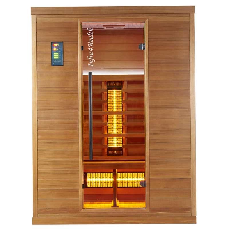 Infra 4 Health I-150 Infrarotkabine Sauna mit Zedernholz für 2 - 3 Personen