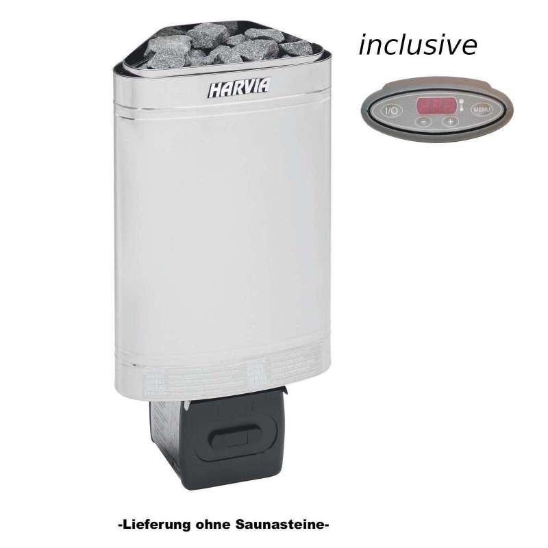 Harvia Saunaofen Delta EE 2,3 kW Elektroofen D23EE inkl. separates Steuergerät