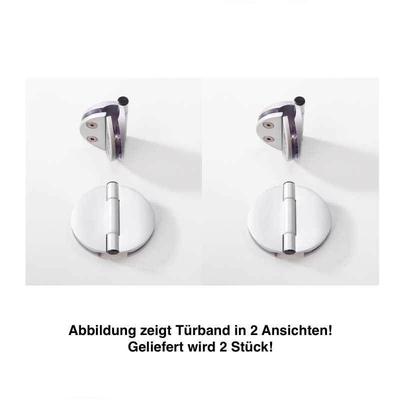 Infraworld Türband Doppel für Saunatüren 2 Stk für 6 bzw 8 mm Glastuer