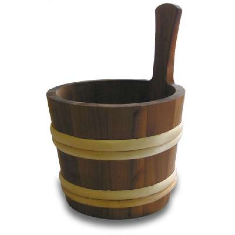 Nikkarien Sauna Holzkübel 4 l geöltes wärmebehandeltes Espenholz 495L