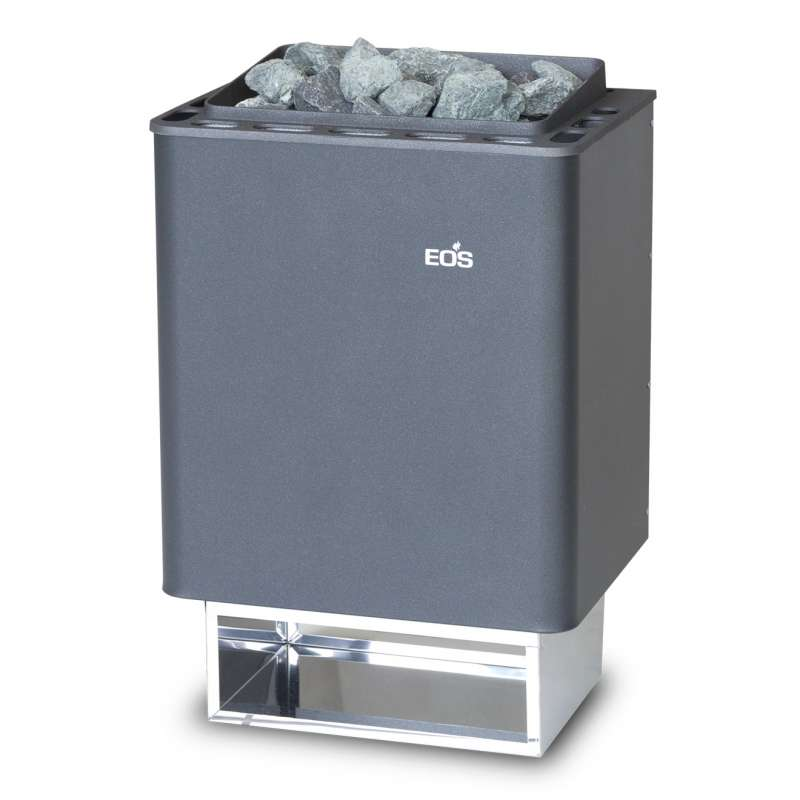 Eos Basic Saunaofen Wandofen Thermat 9 kW anthrazit perleffekt 94.5482
