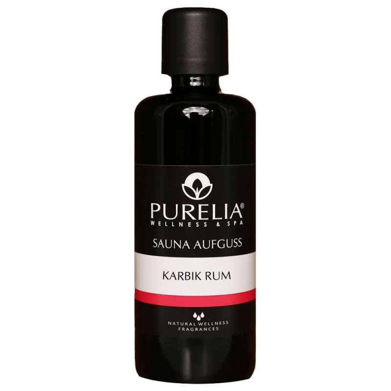 PURELIA Saunaaufguss Konzentrat Karibikrum 100 ml natürlicher Sauna-aufguss - reine ätherische Öle