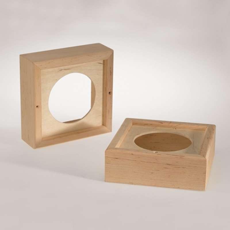 Infraworld Holzrahmen 2er Set für Sauna Lautsprecher Saunazubehör W4428