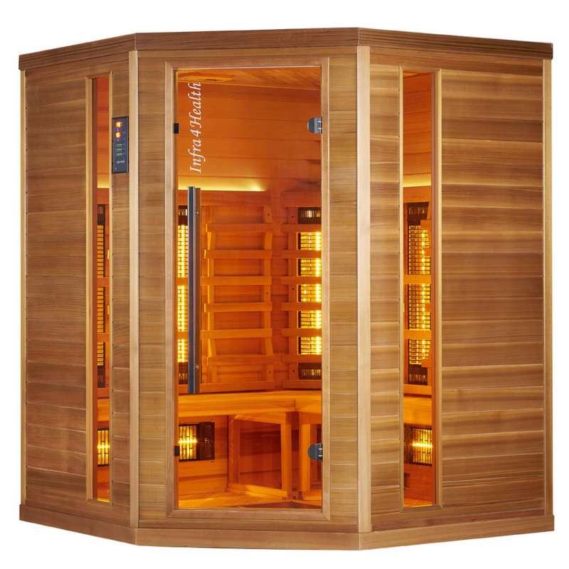 Infra 4 Health I-160 Infrarotkabine Sauna mit Zedernholz für 4 Personen