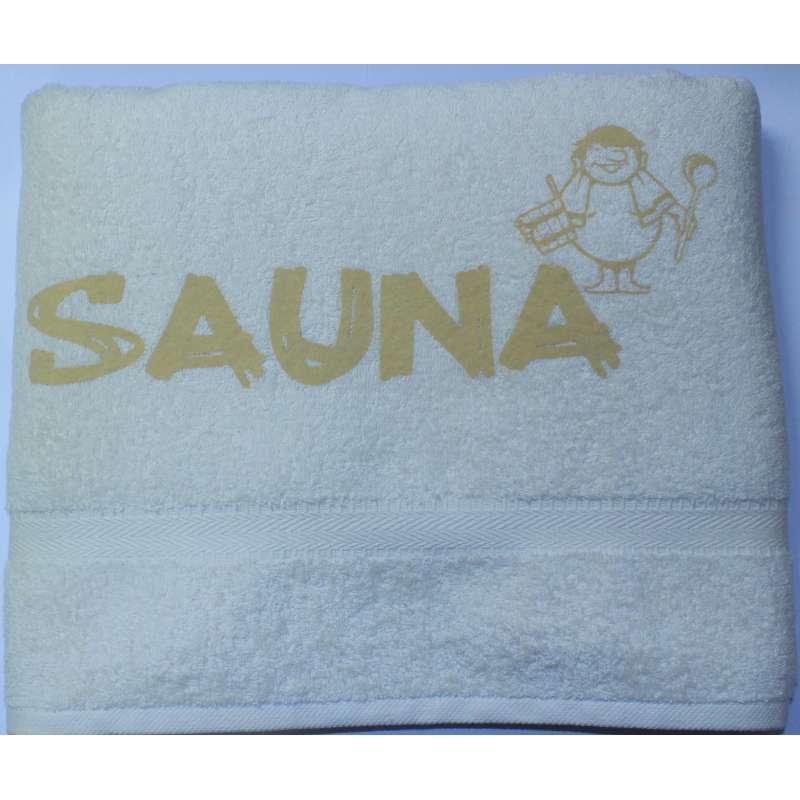 Silver Star Saunalaken Saunatuch natur/beige 70x220cm Saunakilt Aufdruck Sauna