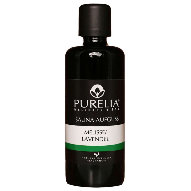 PURELIA Saunaaufguss Konzentrat Melisse-Lavendel 100 ml natürlicher Sauna-aufguss - reine ätherische