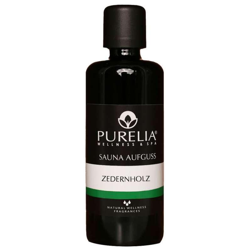 PURELIA Saunaaufguss Konzentrat Zedernholz 100 ml natürlicher Sauna-aufguss - reine ätherische Öle