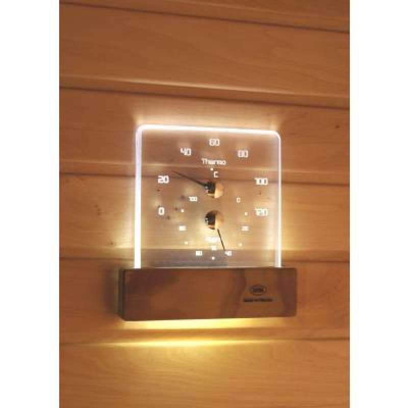 Nikkarien Sauna LED ThermoHygrometer - EEK: A+ Spektrum A++ bis E - Polycarbonat