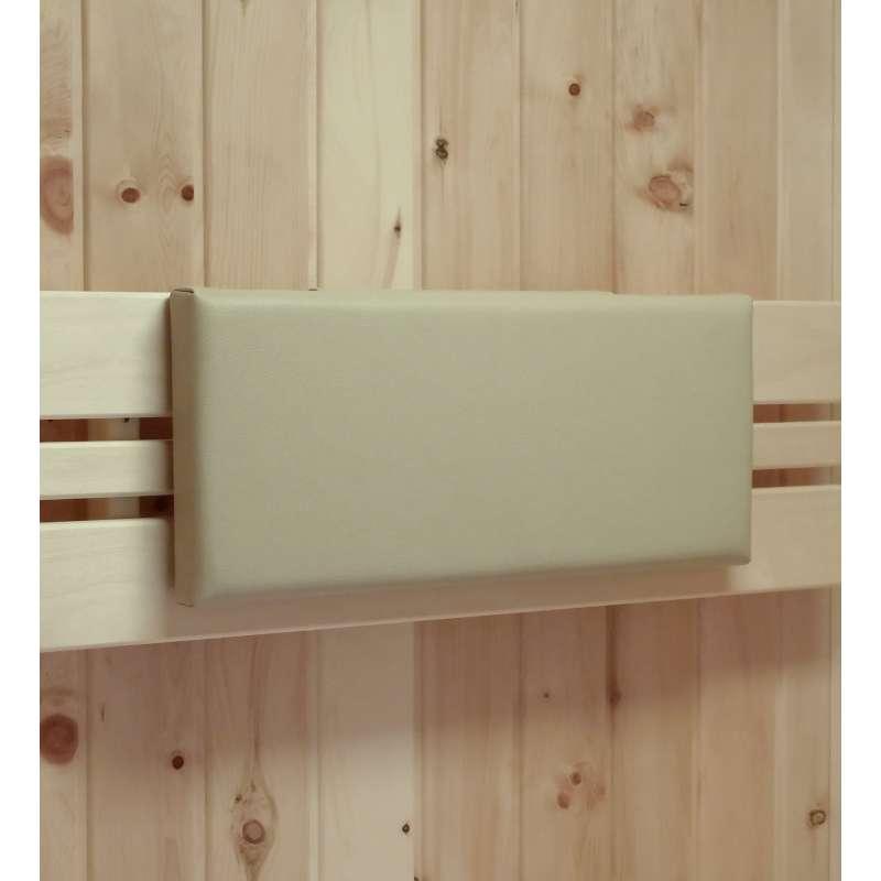 Infraworld Polster für Sauna Rückenlehne 46x20 cm Rückenpolster für Saunakabine zum Einhängen