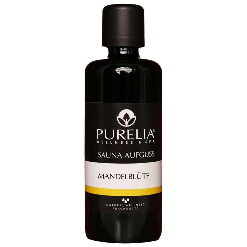 PURELIA Saunaaufguss Konzentrat Mandelblüte 100 ml natürlicher Sauna-aufguss - reine ätherische Öle