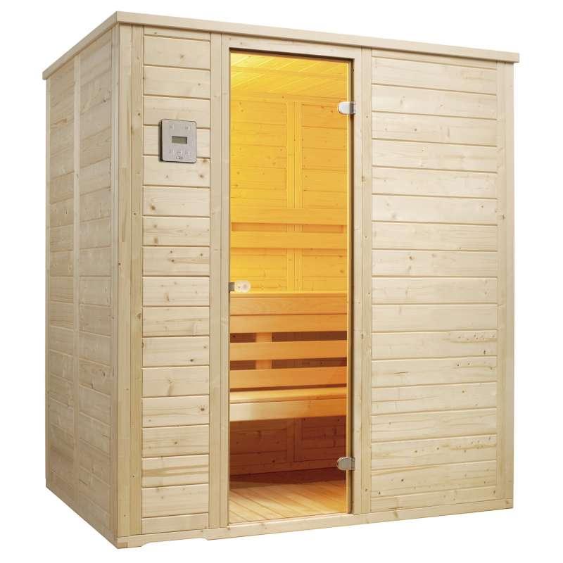 Infraworld Sauna Vitalis 184 Blockbohlensauna Größe 184 x 119 cm 390112