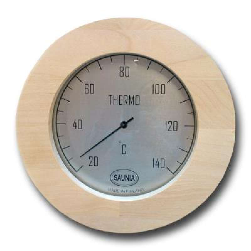 Nikkarien Sauna Thermometer rund Jumbo Birken Leimholz bis 140 Grad