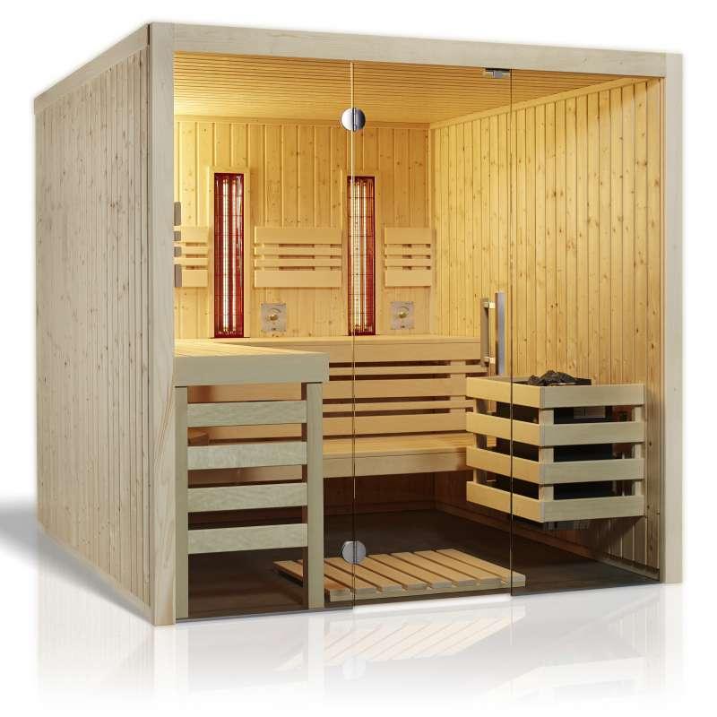 Infraworld Sauna Panorama Complete 210 x 210 cm nordische Fichte 391031