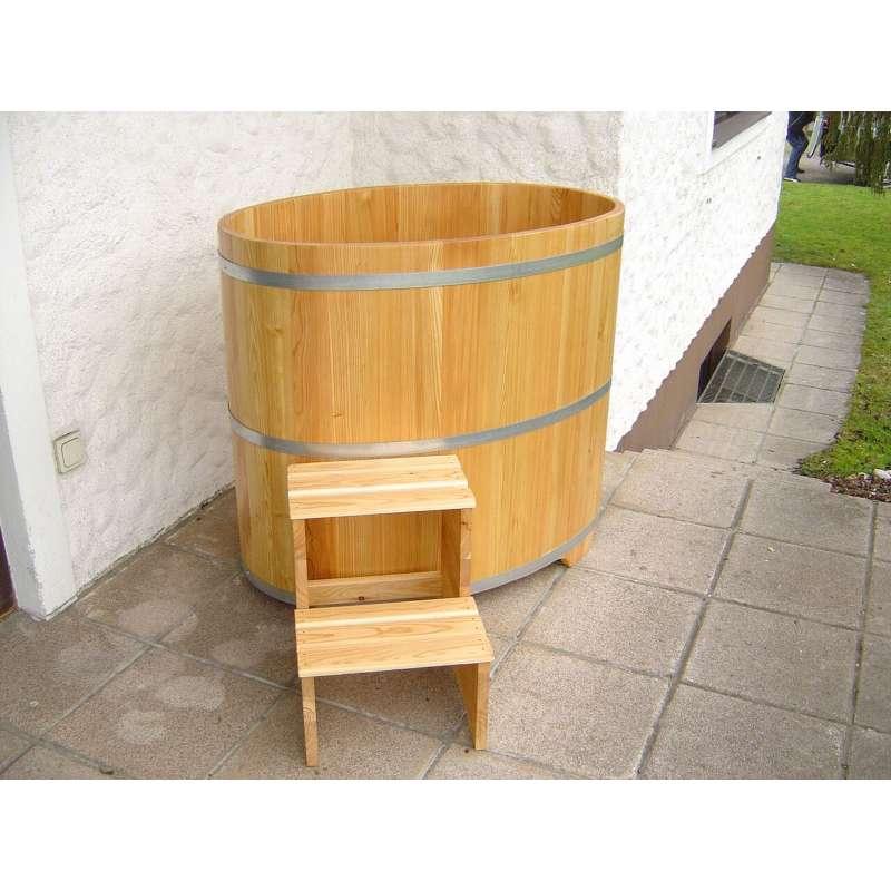 Sauna Tauchbecken aus Lärchenholz farblos beschichtet 741