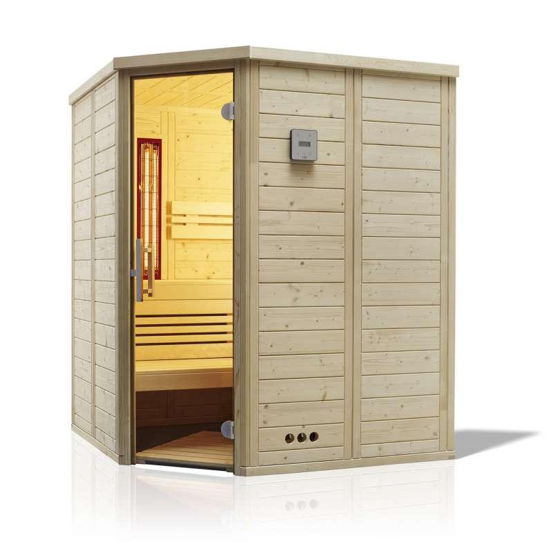Infraworld Sauna Urban Complete Ecke 164 x 164 cm nordische Fichte 391080