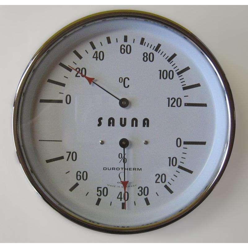 Arend Thermo-Hygrometer Deluxe mit verchromten Gehäuse