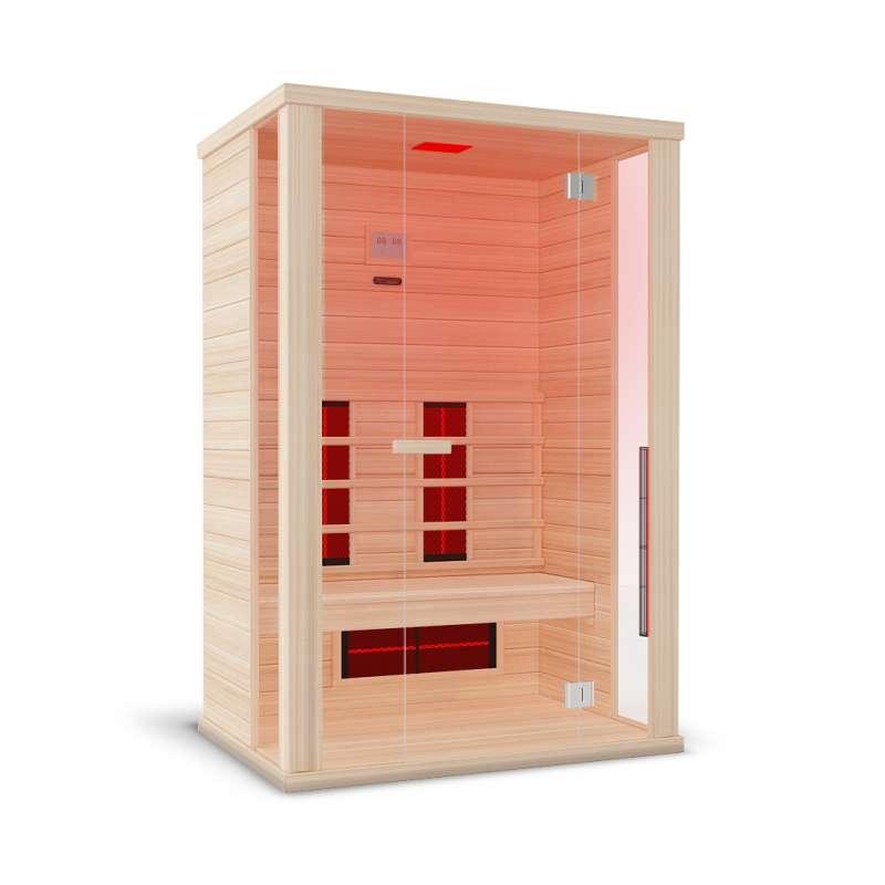 Wellis Solaris Hemlock Infrarotkabine 130 x 100 x 194 cm Infrarotsauna kanadisches Hemlock Holz