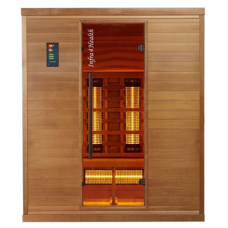Infra 4 Health I-170 Infrarotkabine Sauna mit Zedernholz für 4 Personen