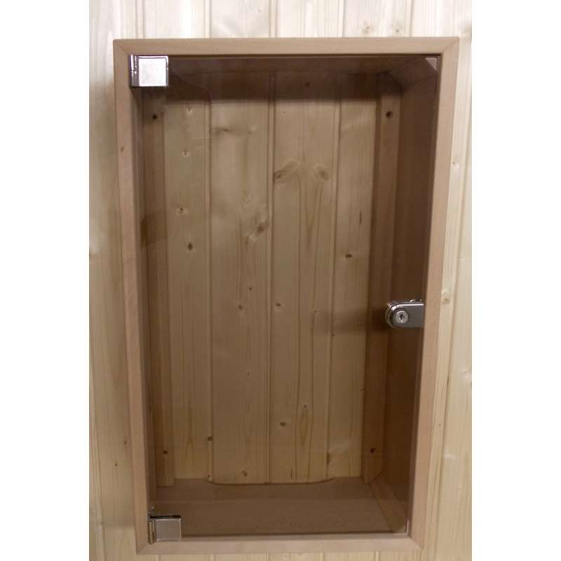 Arend Sauna Abdeckschrank für Steuergerät mit Glastür für Saunakabine
