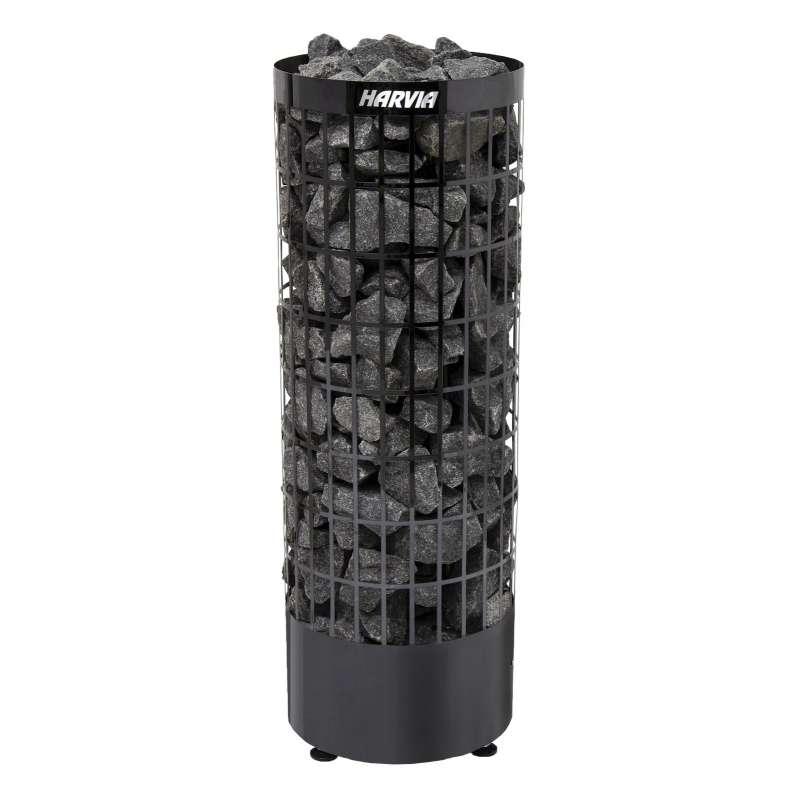 Harvia Cilindro Black Steel PC70E 7,0 kW Saunaofen Saunaheizgerät Edelstahl Schwarz