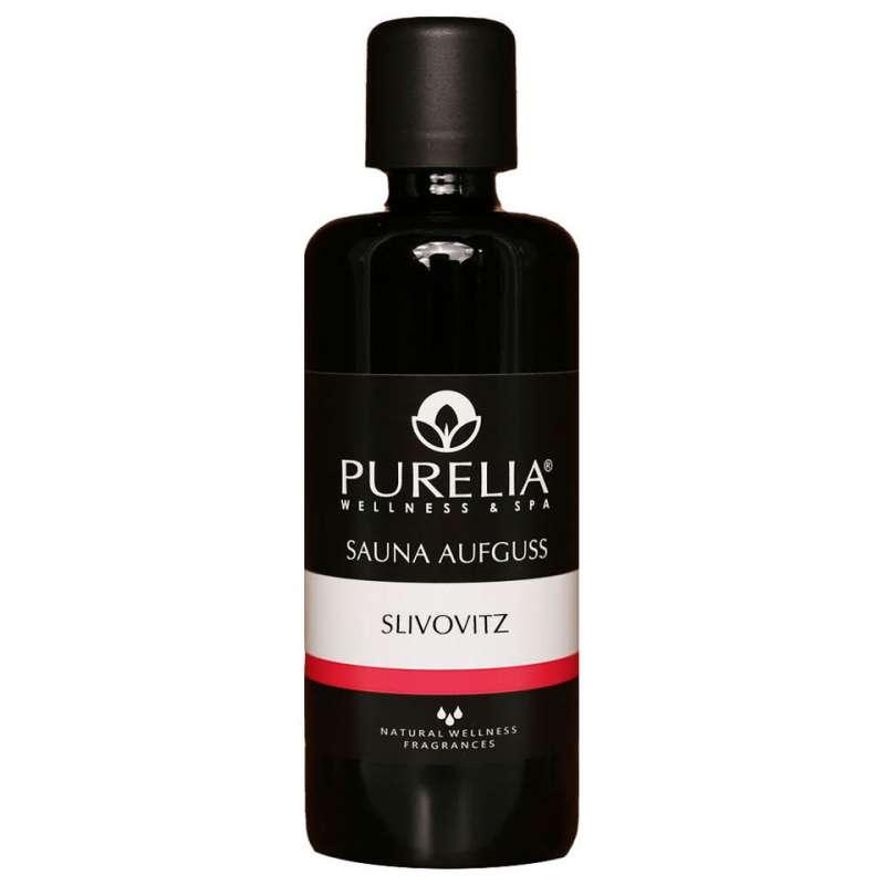 PURELIA Saunaaufguss Konzentrat Slivovitz 100 ml natürlicher Sauna-aufguss - reine ätherische Öle