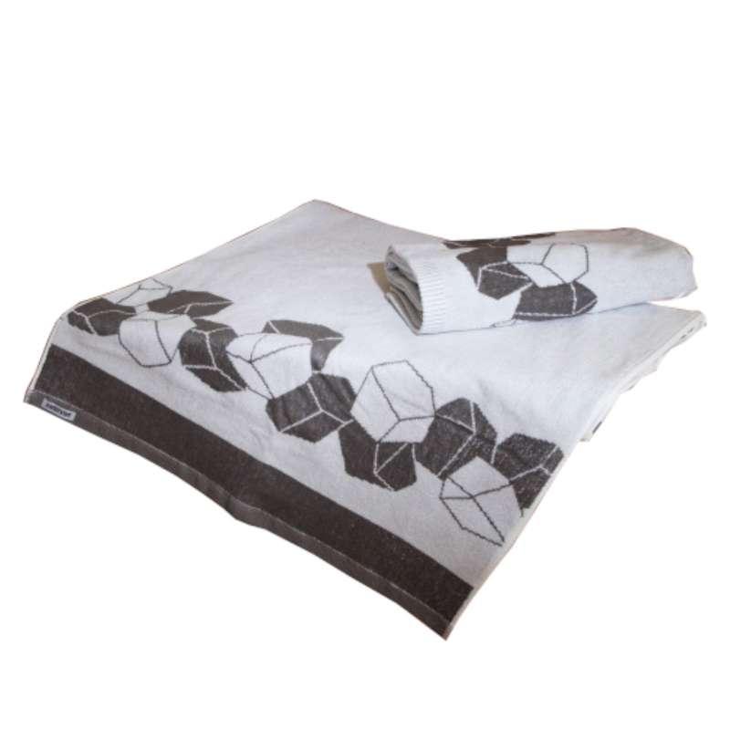 Harvia Saunahandtuch Saunalaken 200 x 70 cm braun weiß 100 % Baumwolle SAC80215