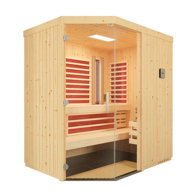 Infraworld Sauna Optima Elementkabine Sole Therme und Infrarotstrahler 151x202cm