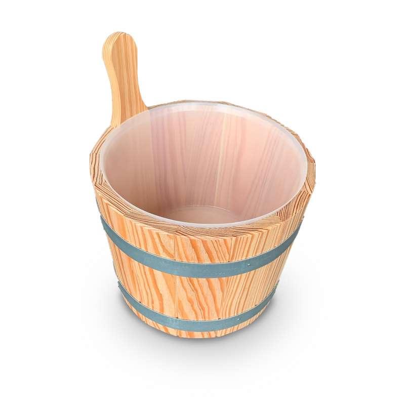 Arend Sauna Aufgusskübel Lärche mit Kunststoffeinsatz ca.5 ltr