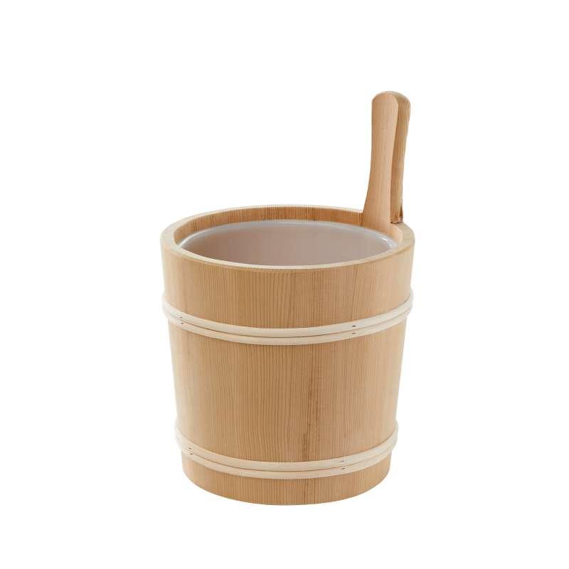 Infraworld Aufgusseimer Thermoespe mit Holzring 5 Liter Kunststoffeinsatz S2306