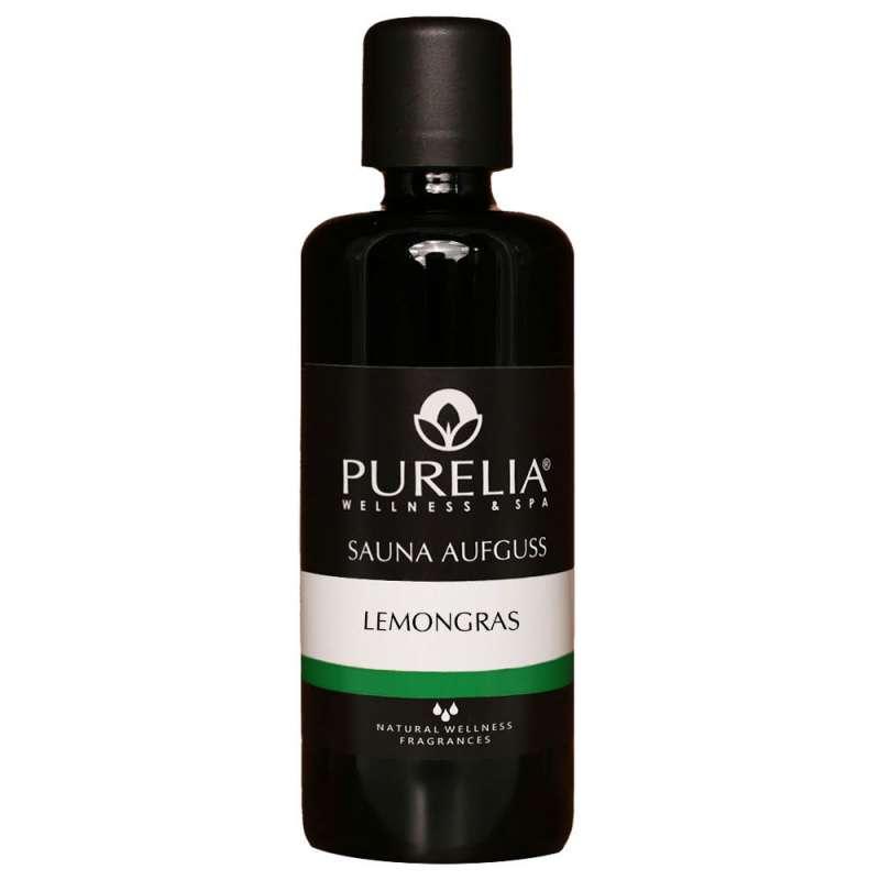 PURELIA Saunaaufguss Konzentrat Lemongras 100 ml natürlicher Sauna-aufguss - reine ätherische Öle